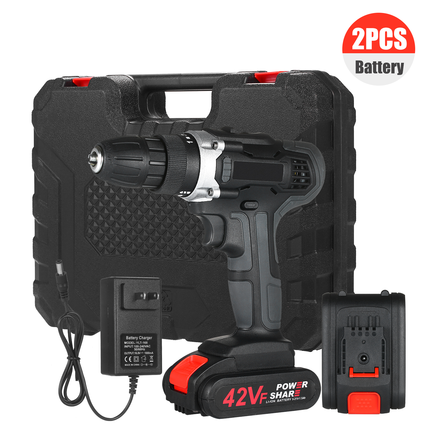 Cordless Drill Dirve Kit 2 Speed Brushless Cordless Power Drill drill electrics Wireless drill with Batteries Fast Charger