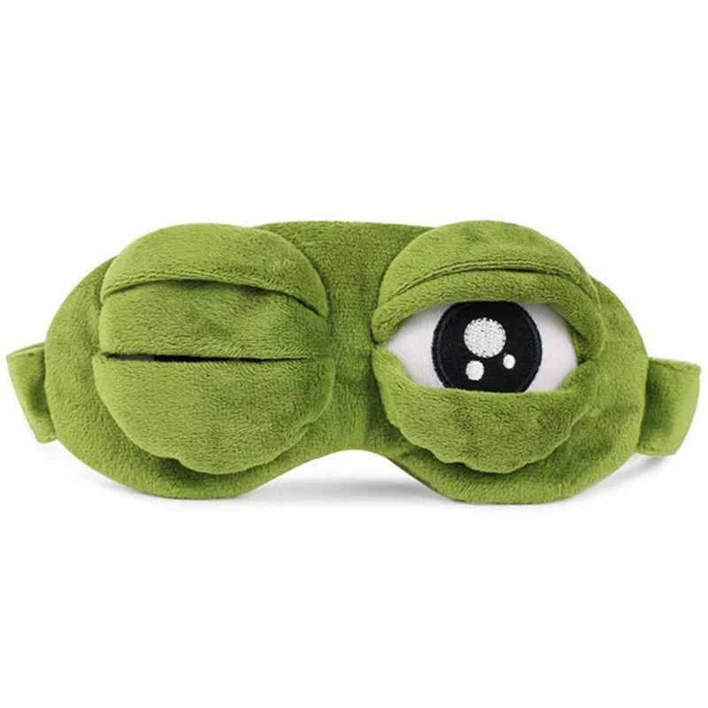 おかしいクリエイティブペペカエル悲しいカエル 3D アイマスクカバー漫画豪華な睡眠マスクかわいいアニメギフト