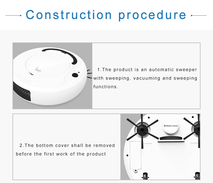 Hae384e81d0d54c03886b94e15a82e67bX LEARNHAI Christmas Gift OB8 Automatic Rechargeable Strong Suction Sweeping Smart Clean Robot Vacuum Cleaner For Home Office