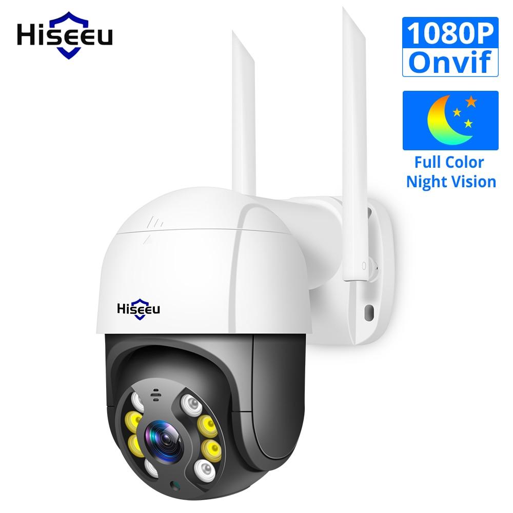 Hiseeu 1080P Speed Dome WIFI Camera 2MP Outdoor Wireless PTZ IP Camera Cloud-SD Slot ONVIF 2-Way Audio Network CCTV Surveillance