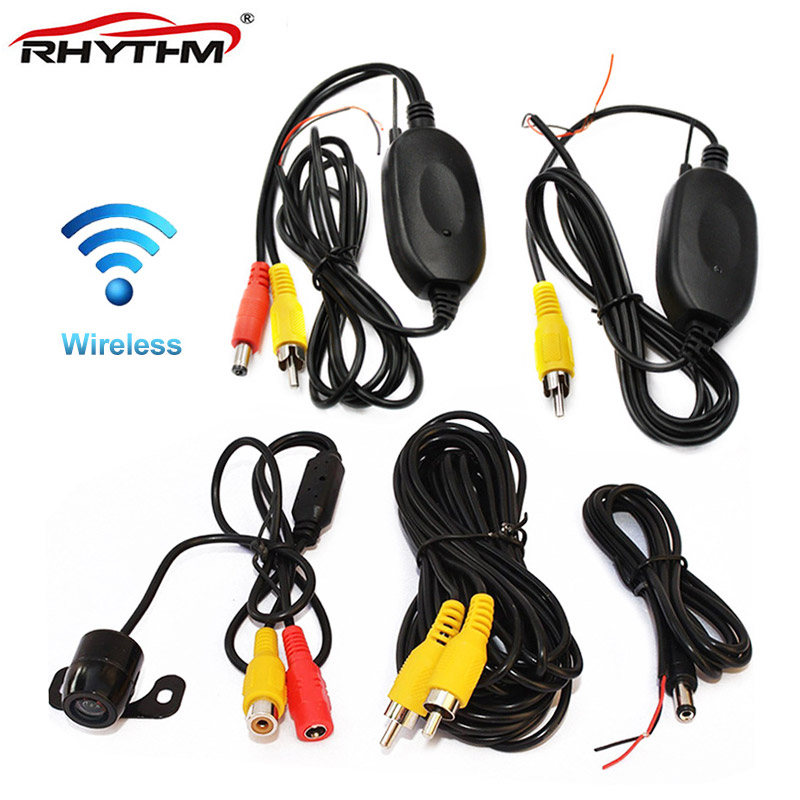 Parking Car Wireless Rear Camera Reverse Car DVD Backup RCA Video 2 4Ghz Transmitter Receiver Kit For Nissa Kia BMW Ford VW Opel