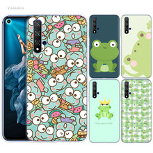 Cute Little Frog Cartoon Case for Huawei Honor 9X 8X Y9 20 8C 8 9 10 Play 8A Lite Pro V20 Y7 Y6 Y5 2019 Soft Phone Coque Cover(China)