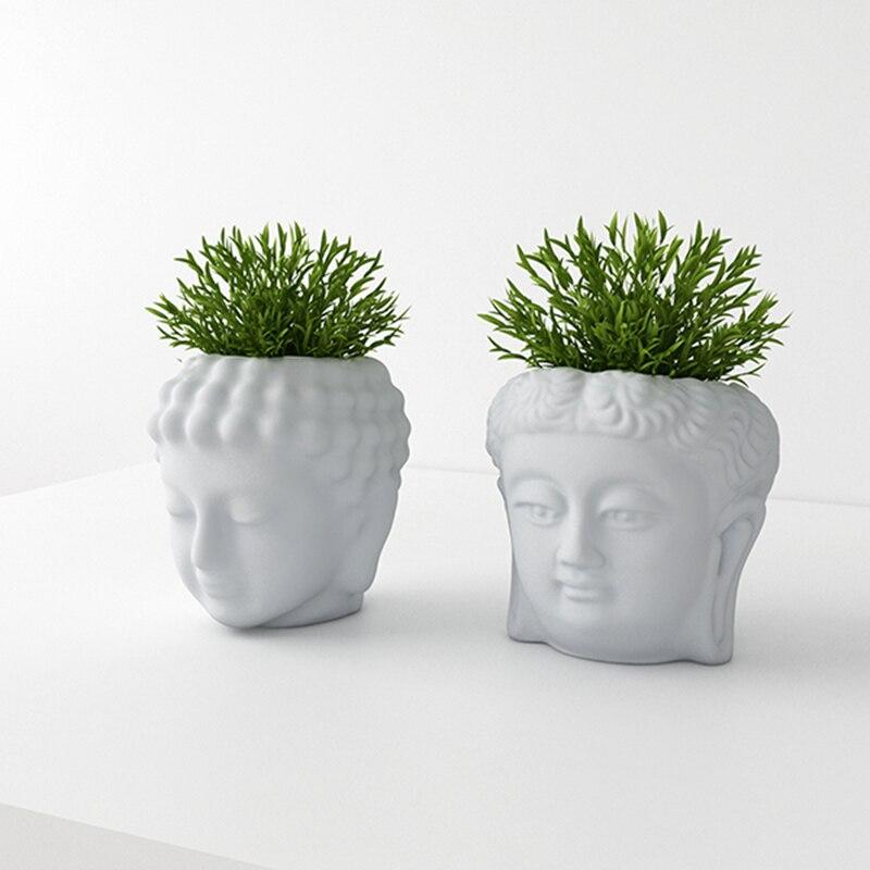 Cement flowerpot mold Buddha creative decoration concrete flowerpot silicone mold Potted plants Mold