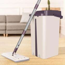 Magia czyszczenia mopy wolną rękę Spin do czyszczenia z mikrofibry Mop z wiadro płaskie wycisnąć Mop z natryskiem domu podłoga w kuchni narzędzia do czyszczenia|Mopy|Dom i ogród -