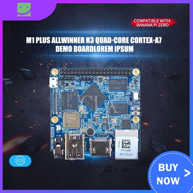 NanoPi M1 Plus Allwinner H3 Quad-core Cortex-A7 Demo Board(1.2GHz,1GB DDR3 RAM,8GB eMMC)+MicroUSB Cable+Antenna