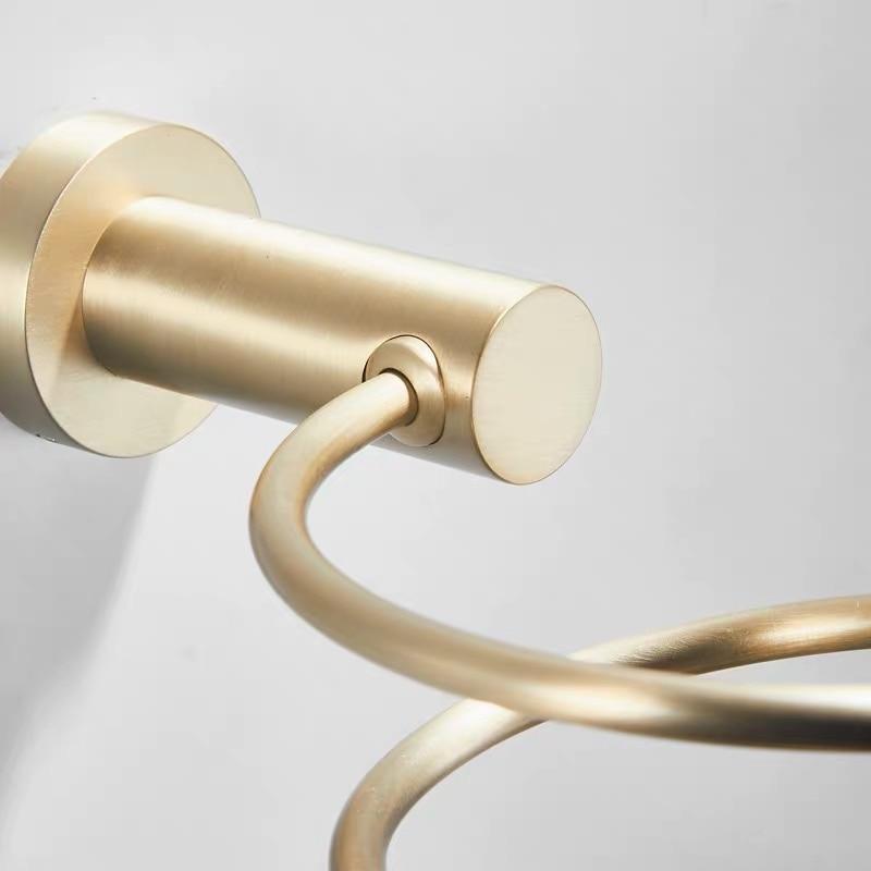 Золото латунь% 2F медь рисунок фен держатель полированный настенный навесной туалет место для хранения полка органайзер
