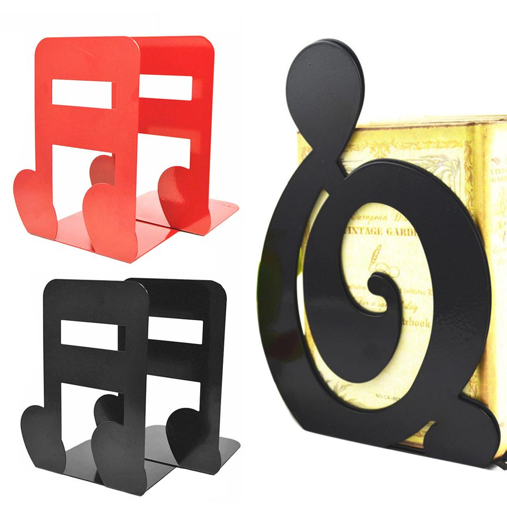 2Pcs Musical High Note Shape Book Stand Holder Bookend School Home Table Storage Decor Message Board