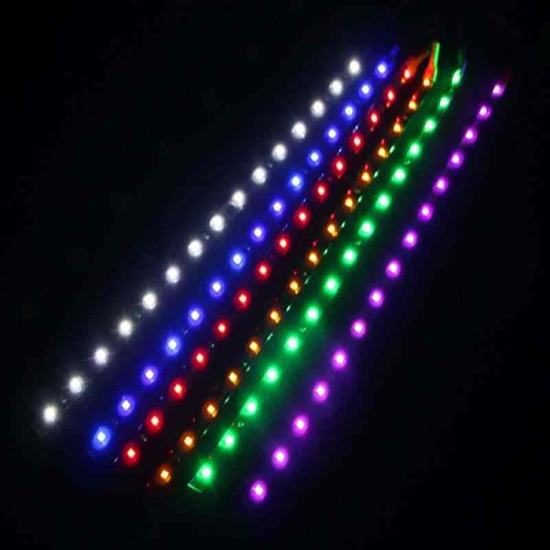 12V 30 ซม.15SMD DRL รถ LED วิ่งกลางวันรถ LIGHT LED Strip ไฟรถยนต์กันน้ำ Auto ตกแต่งยืดหยุ่น LED Light Strip
