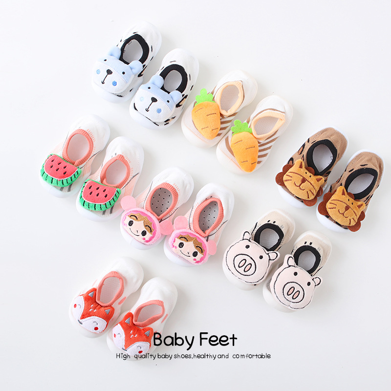 Infant Shoes Boy  Leopard Shoes  Unisex  Cartoon Animation  All Seasons  Kids Casual Slippers  Baby Walking Shoes