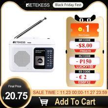 Retekess TR606 kaset oynatma radyo FM/AM taşınabilir radyo ses kaydedici desteği dahili/harici mikrofon kayıt