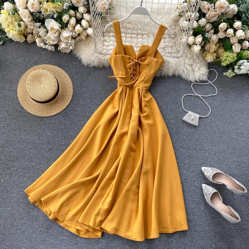 Elegant Vintage Sleeveless V-Neck Bandage Dress 16