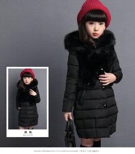 Image 2 - Filles manteau dhiver chaud cheveux artificiels mode longs enfants à capuche veste manteau pour vêtements dextérieur fille filles vêtements 4 12 ans