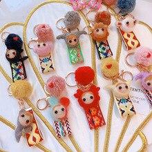 2019 Fashion Wool felt Key Chains Creative zodiac Ring Twelve Constellation KEYCHAIN Cosplay Gifts New Keyring