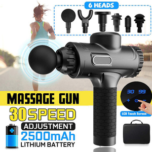 Fashion LCD Display Massage Gun Deep Muscle Massager Muscle Pain Body Massage Exercising Relaxation Slimming Shaping Pain Relief(China)