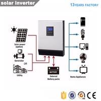 3kva 2400w solar inverter converter solar charge controller dc24v to ac220v 240v ship from brazil sao paulo