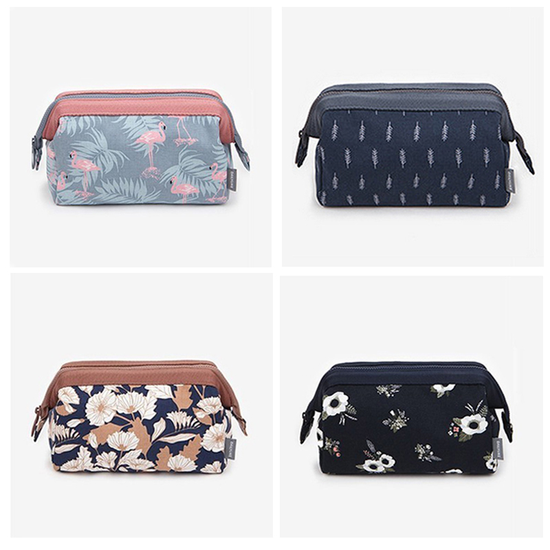 2020 Makeup Bags Toiletry Bag Women Leaf Flamingo Travel Cosmetic Bag Makeup Beauty Wash Organizer Bath Pouch Storage Case