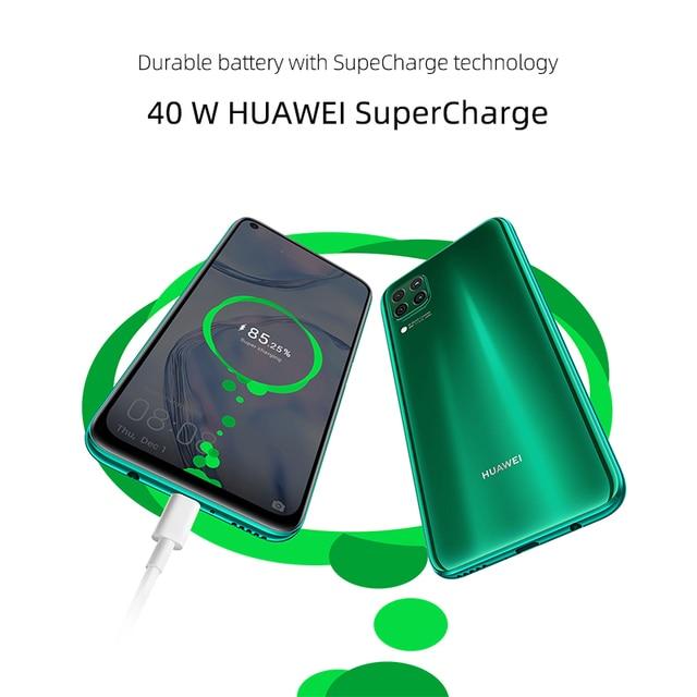 """Huawei p40 lite smartphone versão global 6gb 128gb 48mp ai quard câmera 6.4 """"tela fhd kirin 810 octa núcleo 40w carregamento rápido 3"""
