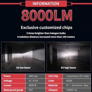 Image 2 - CNSUNNYLIGHT K5 H4 H7 H11 ZES LED H8 H9 H1 880 Car Headlight Bulbs 9005 9006 H13 Headlamp Lights Replace COB Auto Led Lamp 6500K