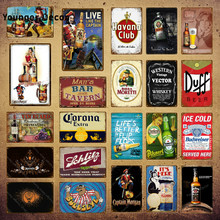 Western vintage vetor uísque placa de cerveja metal sinais bar pub placa decorativa taberna decoração havana clube ferro cartaz do vinho YI-151