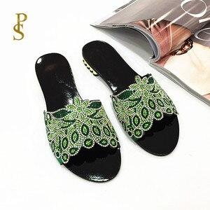 Image 1 - Sapatos planos para mulher chinelos diários para senhoras sapatos com saltos baixos e brocas