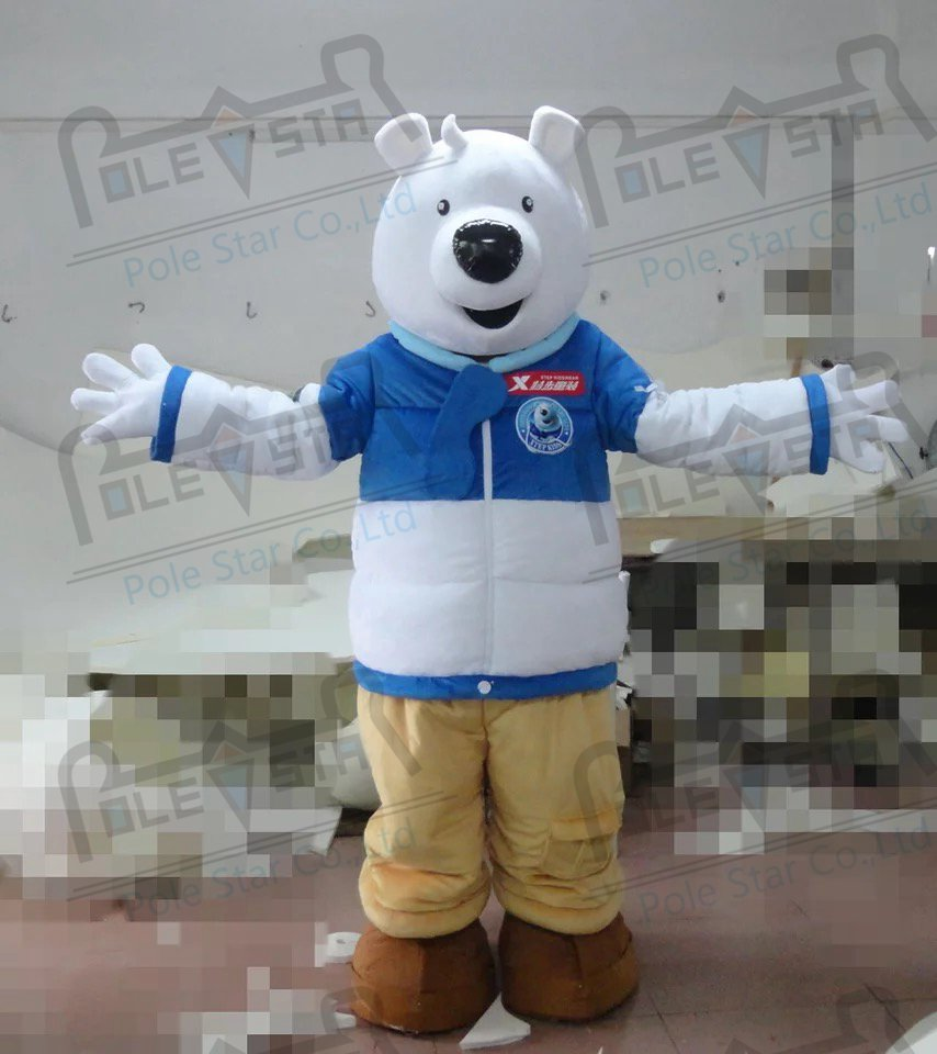 quality polar bear mascot  costumes cartoon white bear mascot design