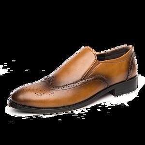 Image 2 - Zapatos de vestir para hombre, calzado Formal Oxford de cuero, estilo oxford, para boda, 2020