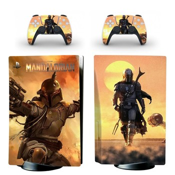 Baby Yoda The Mandalorian PS5 Standard Disc Edition Skin Sticker Decal for PlayStation 5 Console & Controllers PS5 Skin Sticker 2