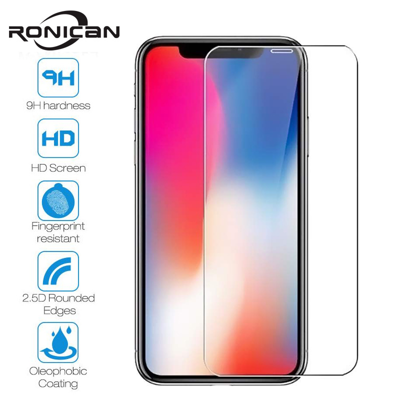 Tempered Glass For iPhone X XS MAX XR 4 4s 5 5s SE 5c Screen Protective Film For iPhone 6 6s 7 8 Plus X 11 Glass Protector()