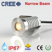 CREE LED Underground Lamp IP67 12V 24V 3W Outdoor Spot Ground Light Narrow Beam Recessed Spotlight 15degree Inground Uplight|LED Underground Lamps|Lights & Lighting -