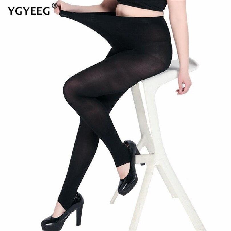 YGYEEG High Waist Women's Winter Plus Cashmere Leggings Fashion Big Size Warm Elastic Faux Velvet Winter Thick Slim Leggings 5XL