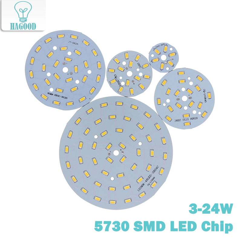 10 Pcs 3W -24W 5730 LED Lamp  Light Bulb Fixtures Diodes Panel Ceiling SMD Light Board  PCB With Led COB LEDs For Lamp Repair