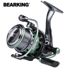 BEARKING Brand HJ series 7BB Stainless steel bearing 6.2:1 Fishing Reel Drag System 17lbs Max Power Spinning Wheel Fishing Coil