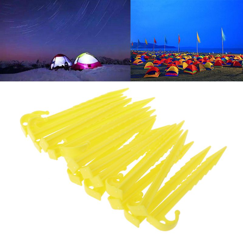 20Pcs Garden Plastic Stakes Tent Pegs for Holding Down the Tents Garden Netting Tarps 72XF