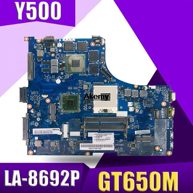 Carte mère d'ordinateur portable QIQY6 LA-8692P pour Lenovo IdeaPad Y500 carte mère originale GT650M