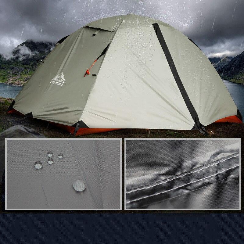 Hewolf 2 человек Водонепроницаемый Ветрозащитный Кемпинг палатки для отдыха на открытом воздухе двухслойный Туризм Рыбалка пляж туристически... - 6