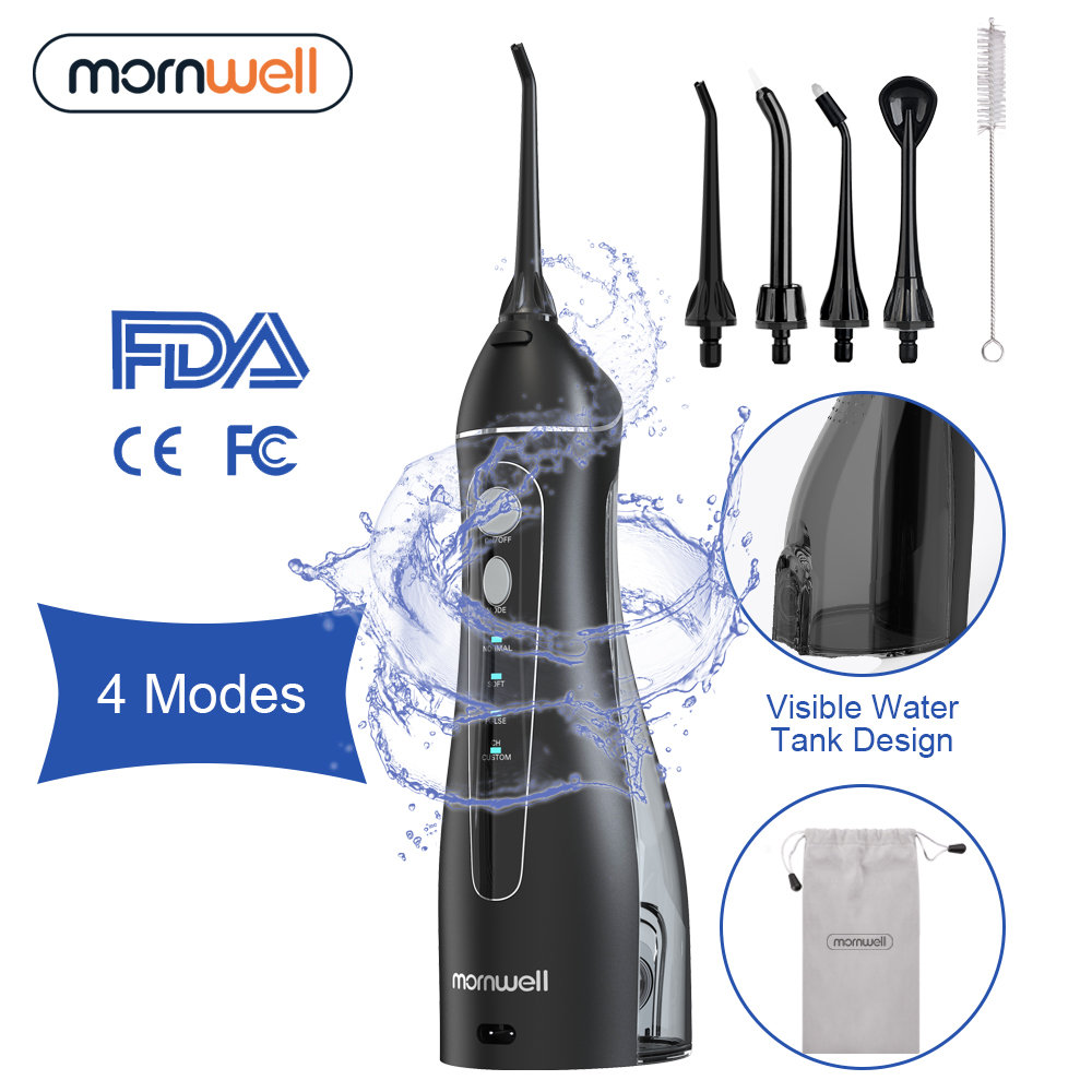 Tooth-Pick Floss Oral-Irrigator Water-Jet 200ml Cordless Rechargeable 5-Nozzles 4-Modes