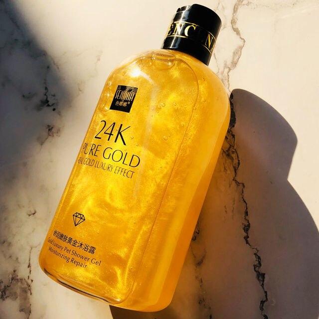 Senana 24K Gold Shower Gel Deep Clean Long Lasting Fragrance Bath Foam Foam Bath Liquid Body Wash Shampoo Moisture Skin Clean 1