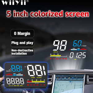 Image 1 - D5000 HUD Car Head Up Display OBD2 Diagnostic Tool Hud Display Digital Security Alarm Speedometer Windshield Screen Projector
