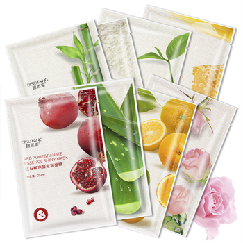 Fresh Orange Aloe Rice Pomegranate Bamboo Rose Green Tea Honey Moisturizing Mask Oil-control Whitening Wrapped Mask