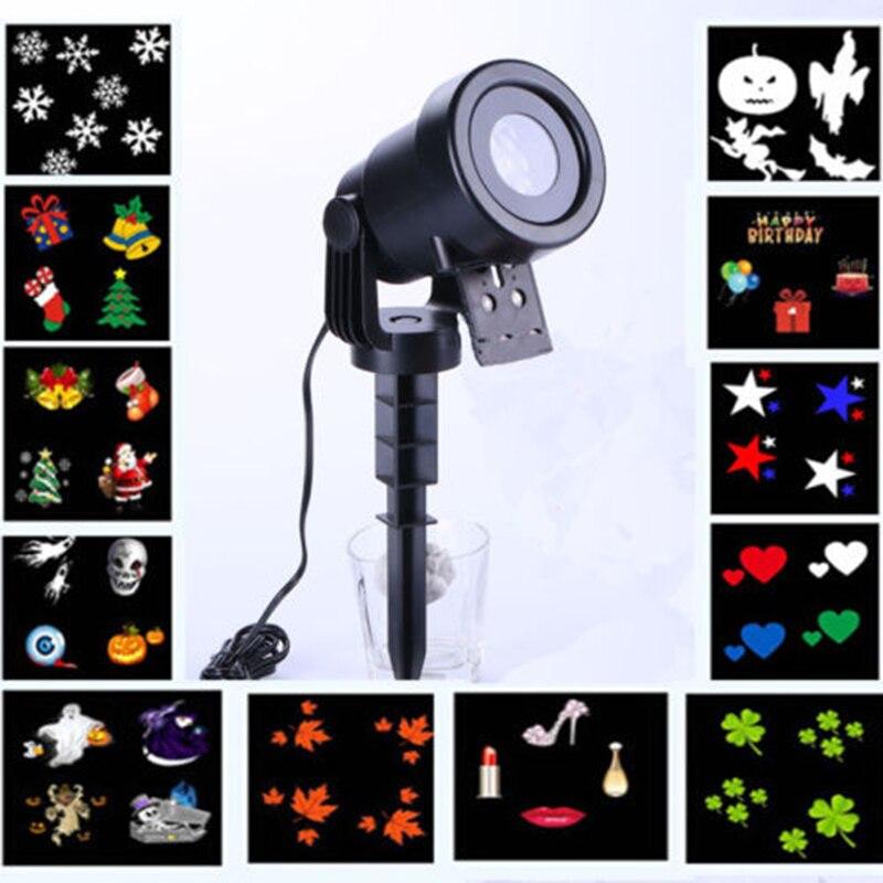 Laserprojektor LED Licht Landschafts garten Weihnachten Projektion Draussen Effekt