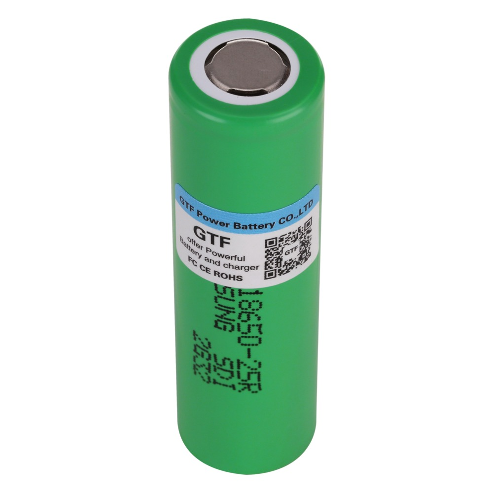 <font><b>18650</b></font> <font><b>25R</b></font> Battery for <font><b>Samsung</b></font> 3.7V 2500mah <font><b>18650</b></font> <font><b>25R</b></font> INR1865025R 20A Discharge Lithium Batteries for E-Cigarette Power Battery image
