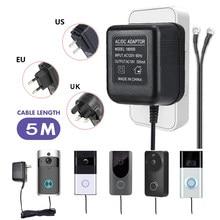 Transformateur ca 18V, 5 mètres, câble wi-fi, sonnette, adaptateur d'alimentation de caméra, pour vidéo IP, sonnette sans fil, entrée 110V-240V