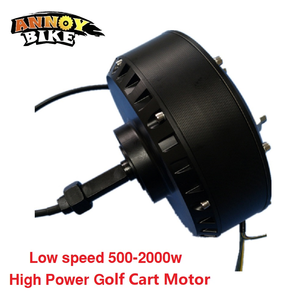 Low Speed 500-<font><b>2000W</b></font> <font><b>Brushless</b></font> <font><b>DC</b></font> High Power Single Side Wheel Hub <font><b>Motor</b></font> Golf Cart <font><b>Motor</b></font> image