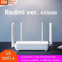 Nowy Mi czerwony mi Router AX6 Wifi 6 6 rdzeniowy 512M pamięci Mesh Home IoT 6 wzmacniacz sygnału 2.4G 5GHz 2 + 4 PA Auto dostosowany dwuzakresowy OFDMA