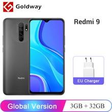 Versión Global Xiaomi Redmi 9 3GB RAM 32GB ROM teléfono móvil Helio G80 Octa Core 13MP Quad Cámara 6,53