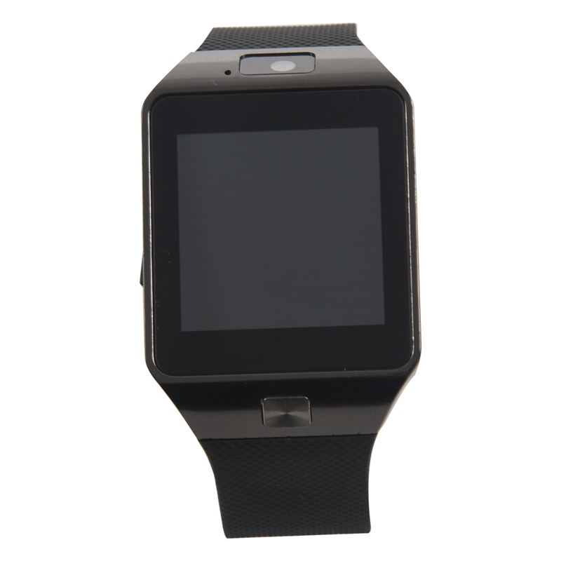 NEW-Bluetooth Watch Smart Watch Phone DZ09 TF SIM Card Holder HD Sync Caller SMS for Android Phone-Black