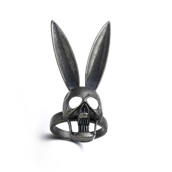 Anillo Harong Bad Bunny, anillo calavera gótico para hombre y mujer, joyería oscura Punk Hip Hop para fiesta, boda, Cosplay de Donnie Darko con calaveras