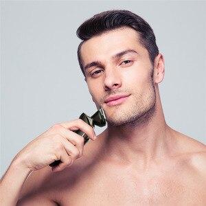 Image 3 - Электробритва для сухой и влажной уборки, электрическая бритва для лица для мужчин, машинка для бритья бороды, вращающаяся головка, usb перезаряжаемая, 2в1, набор для ухода