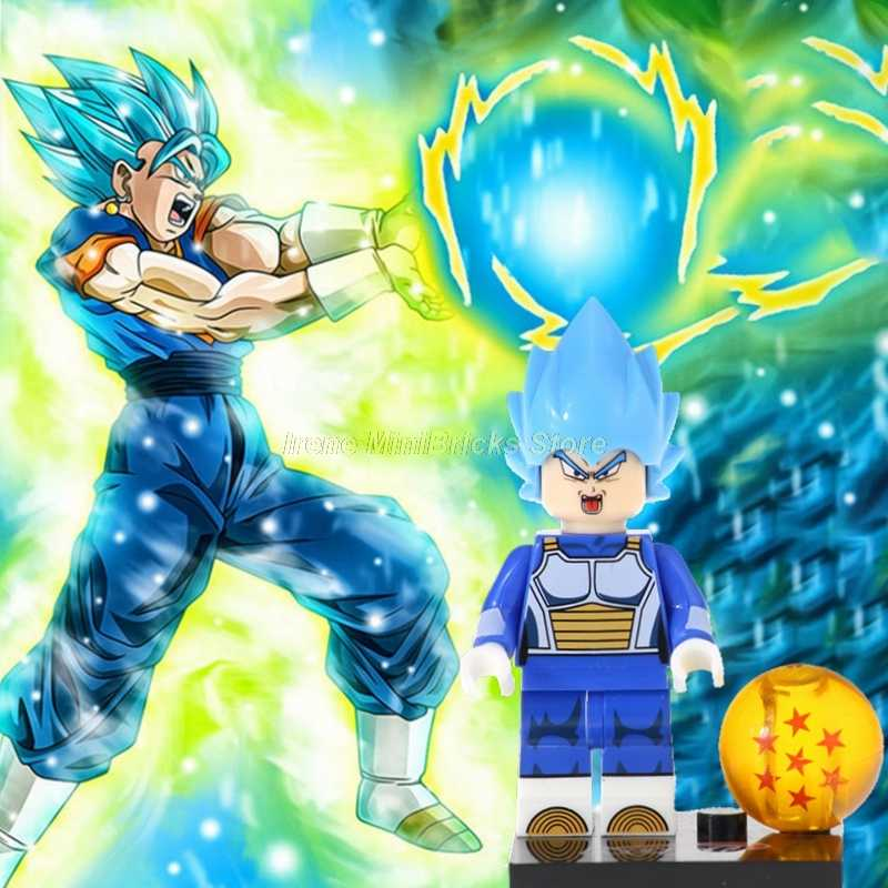 Dragon Ball Z Vegeta Gogeta Vegetto Son Goku Krillin Frieza Nappa Janemba Building Blocks Toys For Children Anime Marvel