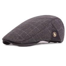 Hats Newsboy-Cap Beret Plaid Wool-Felt Autumn Winter Unisex Male Casquette Trilby Warm